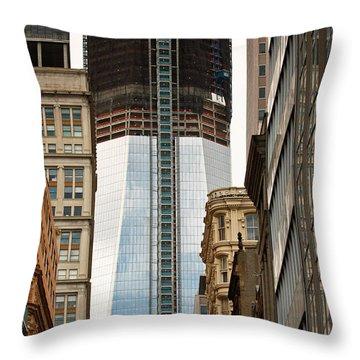 Throw Pillow featuring the photograph One World Trade Center #2 by Ann Murphy