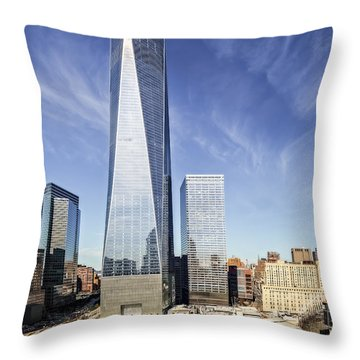 One World Trade Center Reflecting Pools Throw Pillow