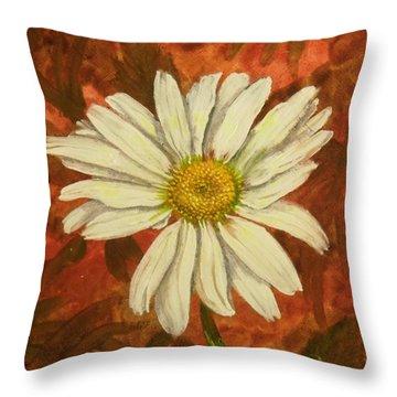 One Yorktown Daisy Throw Pillow