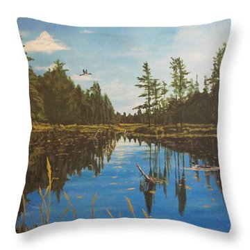 O'neal Lake Throw Pillow by Wendy Shoults