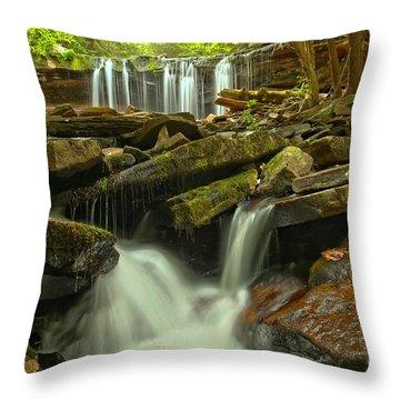 Oneida Falls Multiple Cascades Throw Pillow