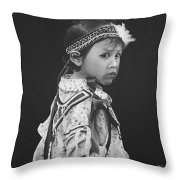 Oneida Girl Throw Pillow