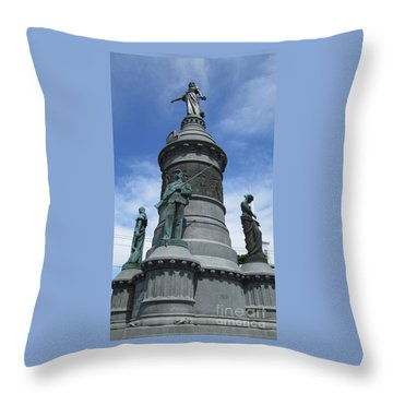 Oneida Square Civil War Monument Throw Pillow