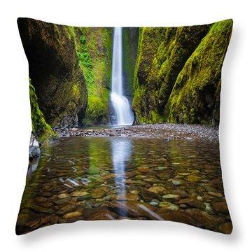 Oneonta Falls Throw Pillow