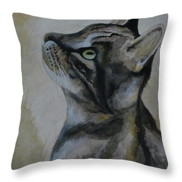 ONI Throw Pillow by Suzette Kallen