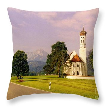 Onion Dome Church Throw Pillow by John Malone