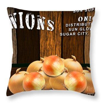 Onion Farm Throw Pillow