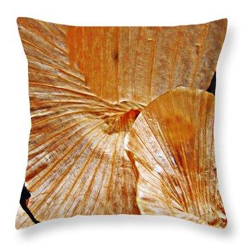 Onion Skin Abstract Throw Pillow