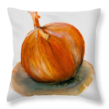 Onion Study Throw Pillow