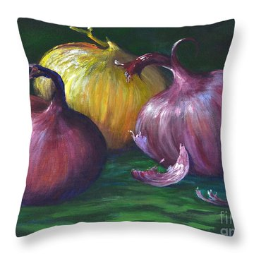 Onions Throw Pillow