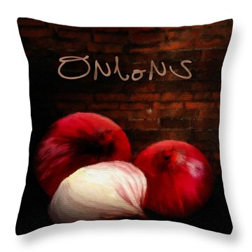 Onions II Throw Pillow by Lourry Legarde