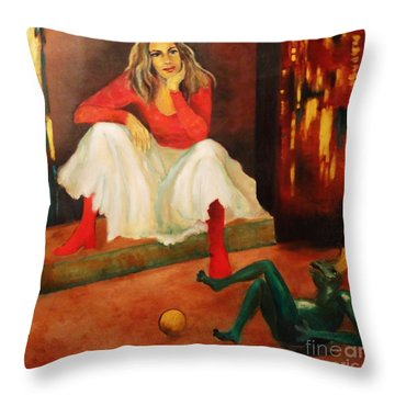Only A Fairy Tale  Throw Pillow by Dagmar Helbig