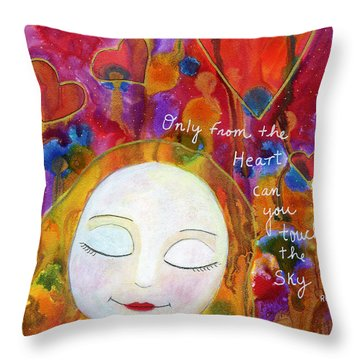 Only From The Heart Throw Pillow