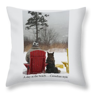Only In Canada Throw Pillow