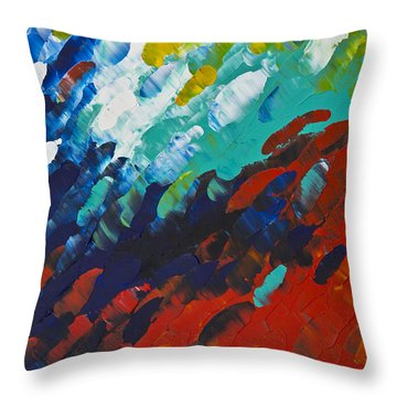 Only Till Eternity 1st Panel Throw Pillow by Sharon Cummings