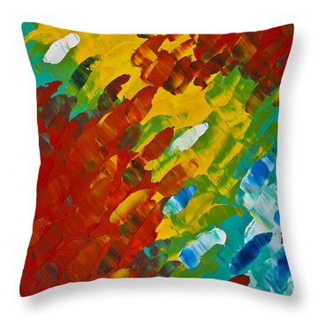 Only Till Eternity 2nd Panel Throw Pillow by Sharon Cummings
