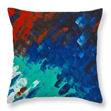 Only Till Eternity 3rd Panel Throw Pillow by Sharon Cummings