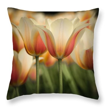 Only Tulips Throw Pillow