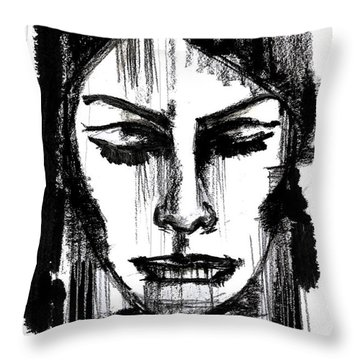 Only Woman Knows Throw Pillow by Sladjana Lazarevic
