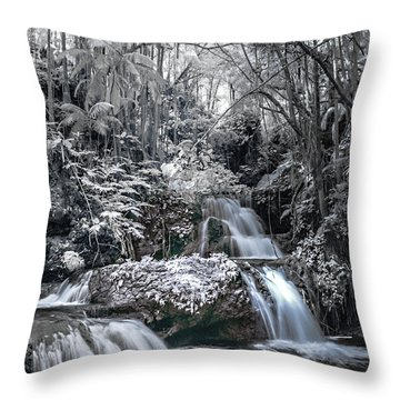 Onomea Falls In Infrared 2 Throw Pillow