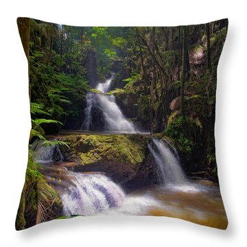 Throw Pillow featuring the photograph Onomea Falls by Jim Thompson