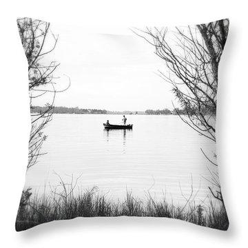 Ontario Fishing Trip Throw Pillow by Valentino Visentini