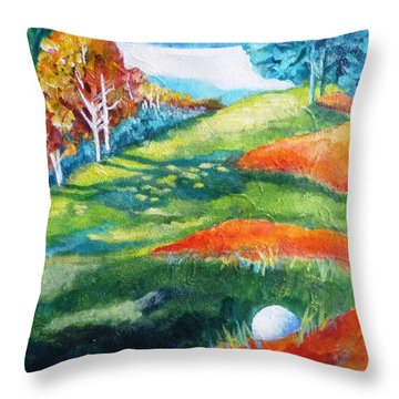 Oops - Bad Lie Throw Pillow