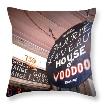 Open 10 Am Throw Pillow by Beth Vincent