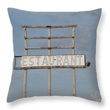Throw Pillow featuring the photograph Open 24 Hours by Michael Krek
