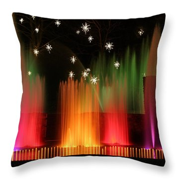 Open Air Theatre Rainbow Fountain Throw Pillow