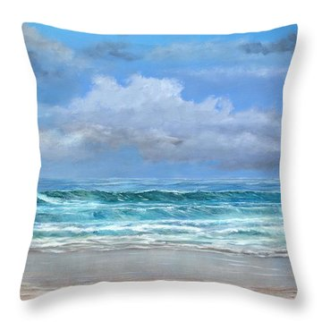 Open Beach Throw Pillow