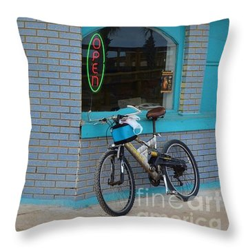 Open For Business Throw Pillow by Bob Sample