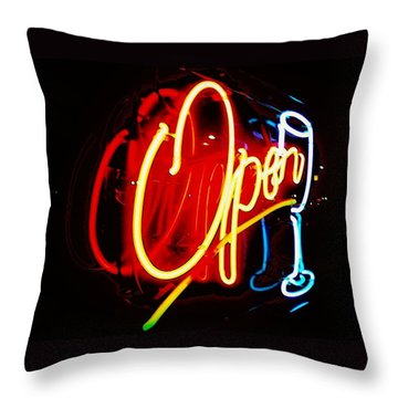 Throw Pillow featuring the photograph Open by Daniel Thompson
