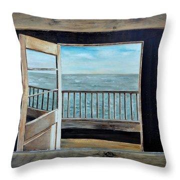 Open Door Throw Pillow by Lindsay Frost