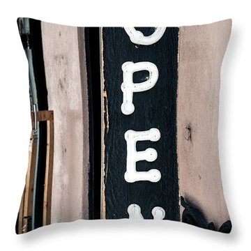 Throw Pillow featuring the photograph Open For Business by Sennie Pierson