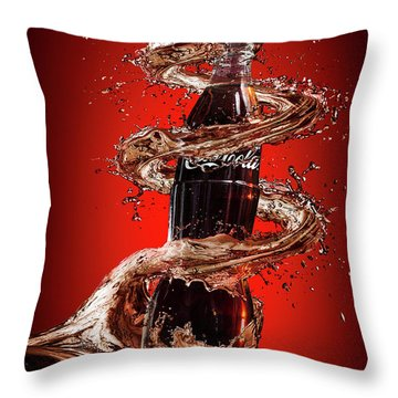 Cola Throw Pillows