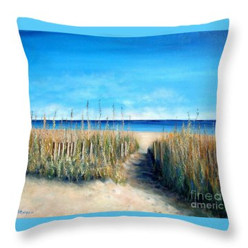 Open Invitation Throw Pillow by Laurie Morgan