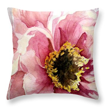 Open Peonie For All To See Throw Pillow