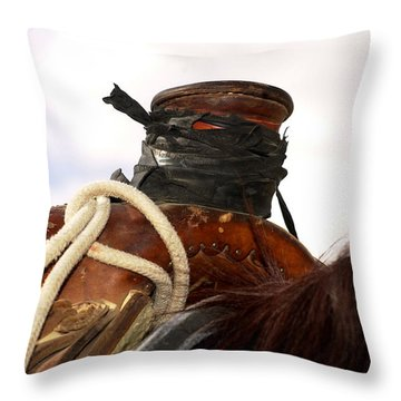 Open Range Saddle Throw Pillow