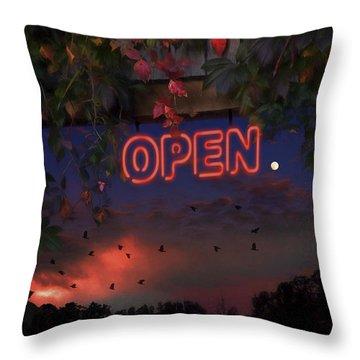 Open Throw Pillow by Ron Jones