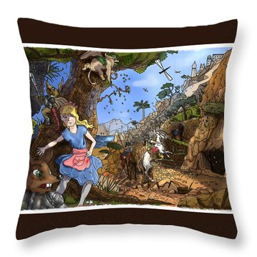 Throw Pillow featuring the painting Open Sesame by Reynold Jay
