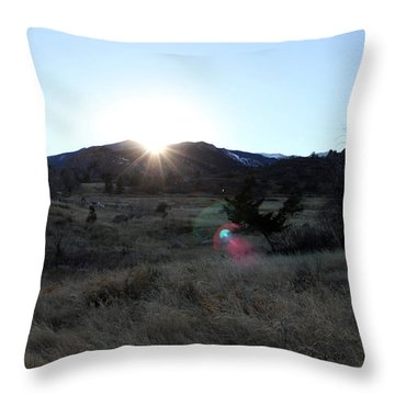 Open Space Sunset Throw Pillow by Erica Hanel