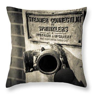 Open Sprinkler Throw Pillow by Melinda Ledsome