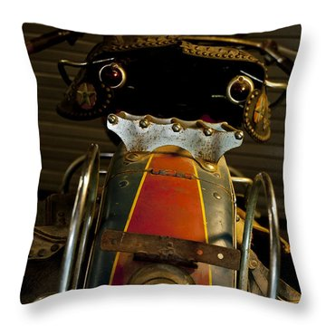 Open The Garage Door And Let Me Go  Throw Pillow by Wilma  Birdwell