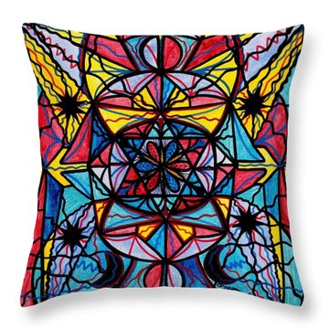 Open To The Joy Of Being Here Throw Pillow by Teal Eye  Print Store