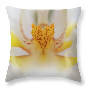 Open Wide Throw Pillow by Sebastian Musial