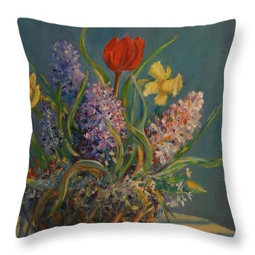 Opening Act Throw Pillow by Dorothy Allston Rogers