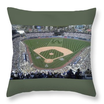 Throw Pillow featuring the photograph Opening Day Upper Deck by Chris Tarpening