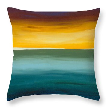 Opening On The Horizon Throw Pillow