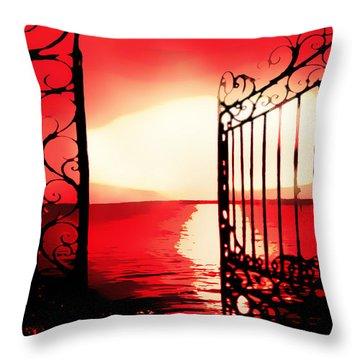 Opening The Floodgates Throw Pillow
